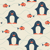 Penguin seamless pattern. Royalty Free Stock Image