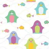 Penguin seamless pattern Royalty Free Stock Image