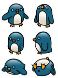 Penguin Set. A collection of cute cartoon penguins Stock Image