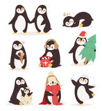 Penguin set vector characters Stock Photography