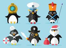 Penguin set vector illustration Stock Images