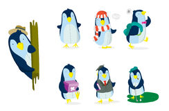 Penguin Set Stock Image