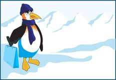 Penguin shopping Stock Image