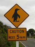 Penguin sign Royalty Free Stock Photos