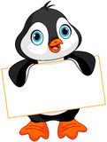 Penguin sign Stock Image