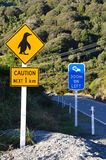 Penguin sign Stock Images