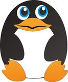 Penguin. A sitting penguin, can be used for linux logo Stock Photos