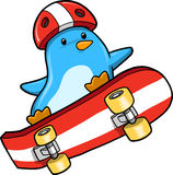 Penguin Skater Vector Stock Photo