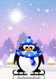 Penguin skating on ice Royalty Free Stock Image