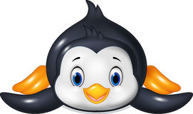 Penguin is sliding on the snow Stock Photography