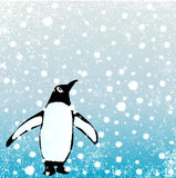 Penguin In The Snow Stock Photography