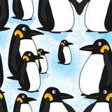 Penguin snow seamless pattern Stock Image