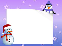 Penguin and snowman concept Stock Photography