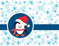 Penguin on snowy background Stock Photo