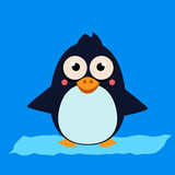 Penguin Standing on Ice. Vector Illustartion Royalty Free Stock Images