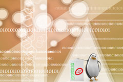 Penguin with 100 % success bill board Illustration Royalty Free Stock Photos