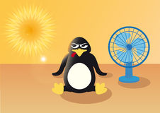 Penguin in the summer Stock Photo