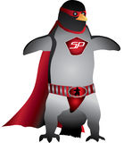 Penguin Superhero Royalty Free Stock Photography