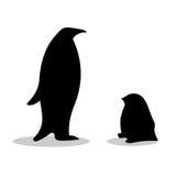Penguin symbol family loyalty Royalty Free Stock Image