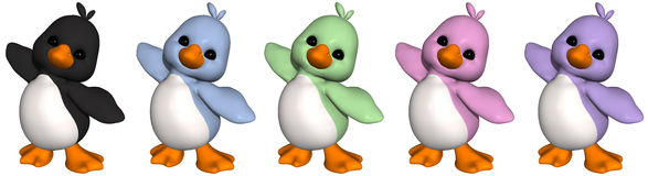 penguin Toon ελεύθερη απεικόνιση δικαιώματος