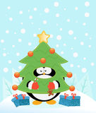 Penguin With Tree Costume Royalty Free Stock Photography