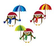 Penguin with umbrella Royalty Free Stock Images