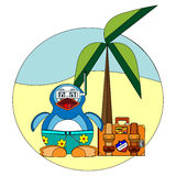 Penguin on vacation Stock Image