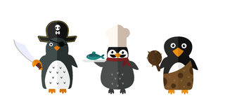 Penguin vector animal character illustration. Royalty Free Stock Photos