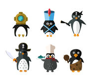Penguin vector animal character illustration. Royalty Free Stock Photos