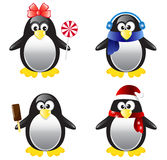 Penguin Vector Illustration Set Royalty Free Stock Image