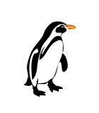 Penguin vector silhouette. Vectored illustration of standing penguin, a symbolic animal for many countries and territories as antarctica, falkland islands and stock illustration