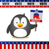 Penguin Vote for Republican Royalty Free Stock Photo