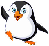 Penguin waving stock illustration