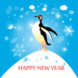 Penguin winter Stock Images