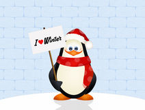 Penguin in winter Stock Images