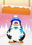 Penguin in winter Royalty Free Stock Photos