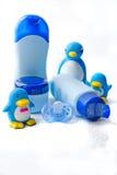 Cosméticos e brinquedos do banho Imagens de Stock