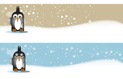 Penguine themed Banners Stock Images
