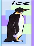 冰penguinin 库存照片