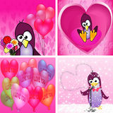 PenguinInLove Arkivbild