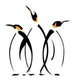 Penguins ο ένας που αγκαλιάζει στοργικά πολύ μέχρι τον άλλον Στοκ φωτογραφίες με δικαίωμα ελεύθερης χρήσης