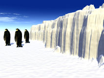 Penguins 2. A ice landscape with some penguins on it Royalty Free Stock Photos