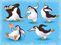 Penguins. Vector illustration of funny dancing penguins Stock Photography