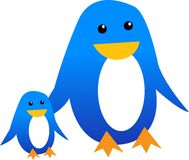 Penguins. Vector illustration for two penguins Royalty Free Stock Images