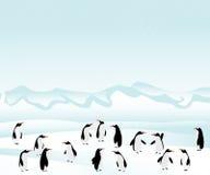 Penguins background royalty free illustration