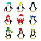 Penguins cartoons Stock Images