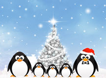 Penguins at Christmas Royalty Free Stock Photography
