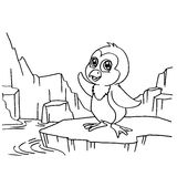 Penguins Coloring Pages vector Royalty Free Stock Photo