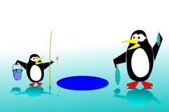 Penguins fishing Stock Image