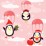 Penguins fly in the sky Stock Images